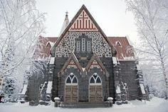 beautiful church in Finland
