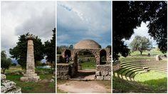 la tomba del tuffatore, il Museo Nazionale di Paestum e l'anfiteatro romano - Paestum: Parco Archeologico del Cilento