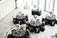 Black and Gold Wedding Reception