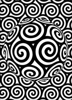 Pôster Triskle - Os Celtas utilizam o Triskle para representar o elemento ar, o Triskle é composto por três vórtices estilizados. O Ar é um dos quatro elementos que compõem o planeta Terra: (Água, Terra, Fogo e Ar). O espírito da natureza do Ar são as fadas e os Silfos. O elemento ar é simbolizado na alquimia pelo triângulo com a ponta voltada para cima, cortado por um traço na horizontal.