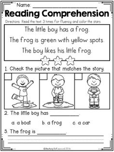 Reading Comprehension Passages For Beginning Readers (Spri