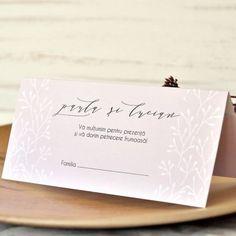 Invitatie de nunta inima maronie - Memoires.ro Place Cards, Place Card Holders