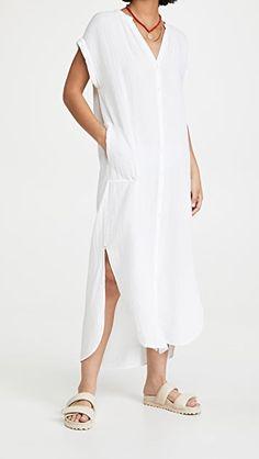 Samantha Dress The White Album, China Fashion, Swimsuits, Swimwear, Summer Looks, Dress Up, White Dress, Short Sleeve Dresses, Cotton