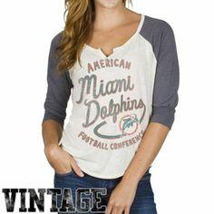 aadea0dfa Junk Food Miami Dolphins Women s Rookie Raglan Tri-Blend T-Shirt -  White Gray