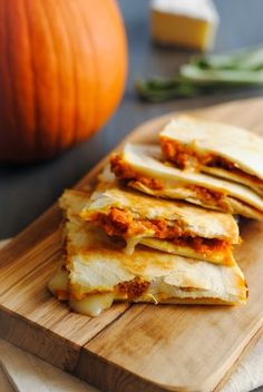 Pumpkin-Brie Quesadillas by Foxes Love Lemons