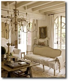 Victoria Home Decor Magazine | French Decorating Featured In Campagne Decoration Magazine- All White ... | Cottage living room
