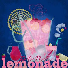 pink lemonade illustration by Elisandra