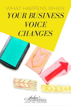 When Your Business Voice Changes (by #ahasmember Melissa of Print Therapy) business tips #succeed #business