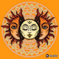 #hippie #suns #art #moon&sun Art Sketches, Art Drawings, Pencil Drawings, Paar Tattoos, Sun Art, Hippie Art, Hippie Kunst, Hippie Life, Dope Art