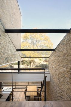 Giles Pike Architects has added a stepped glass extension to a Victorian house in south London