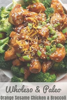 Forget takeout - This Whole30 and Paleo take on Orange Sesame Chicken and Broccoli is made with the cleanest, healthiest ingredients and it tastes delicious! I make a double batch of the sauce to freeze and save for another time, because it's just that good! The best things about this meal is that it's kid-friendly AND will satisfy even your strongest cravings for Chinese takeout. Gluten Free, refined sugar free too!