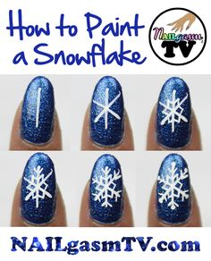 How to paint a snowflake. WATCH a video tutorial here.