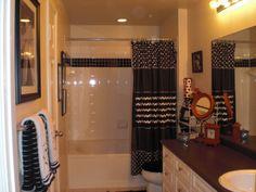 XoXo Black and White Apartment Bathroom -- UPDATED