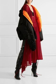 Vetements - Stretch-jersey Midi Dress - Red -