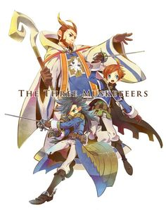 The three musketeers ( Jean,Yew and Nikolai ) (Bravely Second )