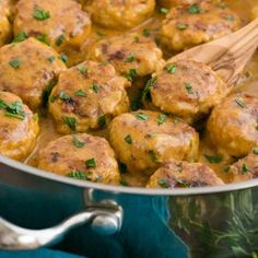 Chicken Meatballs in a Cream Sauce (Tefteli) (substituting quinoa for rice,  coconut oil for butter)