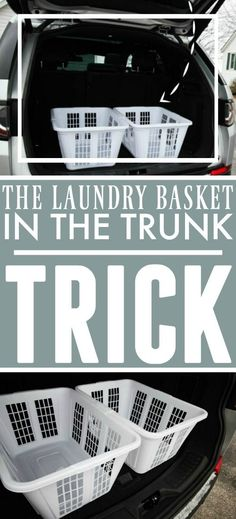 This simple, inexpensive trunk organizing trick will keep your shopping haul organized and easier to bring into the house when you get home! Do It Yourself Projects, Cool Diy Projects, Diy Cleaning Products, Cleaning Hacks, Car Cleaning, Clean My Space, Trunk Organization, Making Life Easier, Laundry Basket
