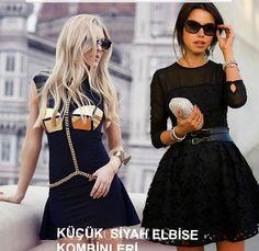 Kısa ve Dar siyah elbiseler nasıl giyilir