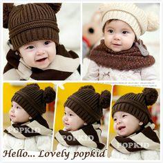 Cute Warm baby child kids'Toddler Knitted Crochet Beanie Hat cap