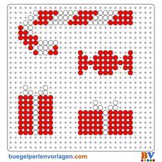 Weihnachten Bügelperlen Vorlage - perler bead pattern