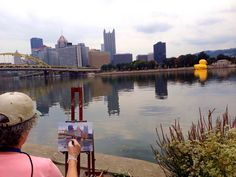Giant Rubber Duck invades Pittsburgh