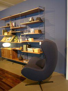 Pleasant Vintage bij ons: Limited editions Egg Chair Fritz Hansen, String wandsysteem