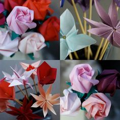 Paper flowers, thy will look perfect all season long! (and my kids won't rip them to bits) #diy