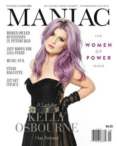 We love, love love Kelly Osbourne's lilac locks. #manicpanic