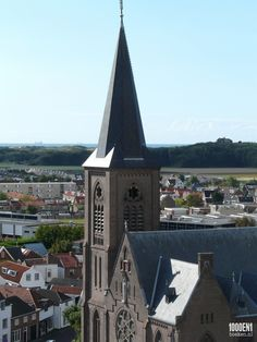 View from the top of the Old St. Jeroen Church. We could see the new Sint Jeroens Church, our house, the dunes and the sea :-)