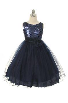 Flower Girl Dress Silver/Grey Sequin Mesh flower Girl Toddler Wedding Special Occasion Dress -305