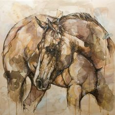 Horse Art Print 12 x 12 Reproduction Of by JonShawPaintings Horse Drawings, Art Drawings, Arte Equina, Watercolor Horse, Horse Artwork, Horse Sculpture, Wow Art, Animal Paintings, Horse Paintings