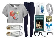 """""""Sin título #94"""" by hipster999 ❤ liked on Polyvore featuring Burberry, Converse, Language Of Flowers, Ray-Ban and PhunkeeTree"""