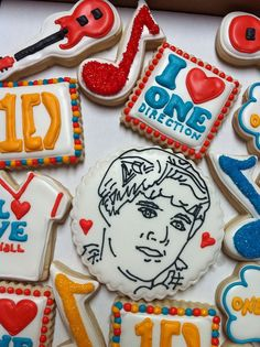 One Direction Cookies by missy's cookies, via Flickr