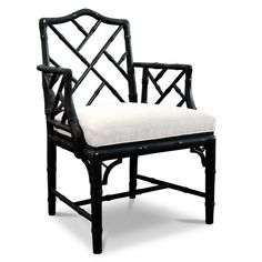 Jonathan Adler Chippendale Armchair I have these! Mine are dark brown wood with tan cushions though.