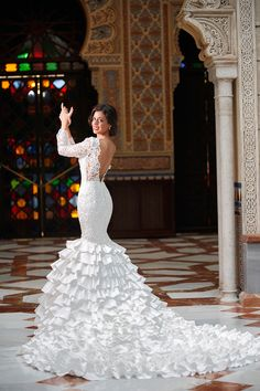 Silvia Navarro presents a collection of wedding dresses, Prom Dresses Long With Sleeves, Backless Prom Dresses, White Wedding Dresses, Bridal Dresses, Wedding Gowns, Prom Gowns, Flamenco Wedding, Sexy Party Dress, Wedding Bride