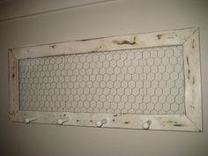 Wall Hook Chicken Wire Frame by FoundandReinvented on Etsy