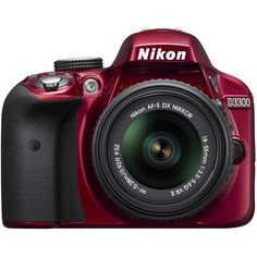 Nikon D3300 1533 24.2 MP CMOS Digital SLR with Auto Focus-S DX NIKKOR 18-55mm f/3.5-5.6G VR II Zoom Lens, Certified Refurbished, Red ** Click image for more details. (This is an Amazon Affiliate link and I receive a commission for the sales)
