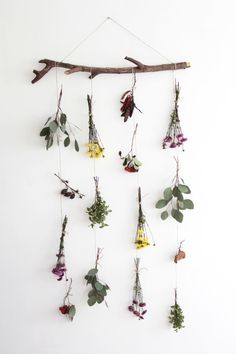 movil de flores naturales DIY - Natural flower garland