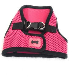 Dog Harness Size S Canine Fashionable Pink Mesh Black #Unbranded