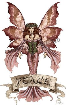 Amy Brown Print Fairy Peace Banner Faery Christmas New Fantasy World . Unicorn And Fairies, Unicorns And Mermaids, Beautiful Fantasy Art, Beautiful Fairies, Woodland Creatures, Magical Creatures, Amy Brown Fairies, Fairy Pictures, Fairy Figurines