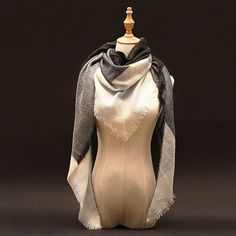 Za Winter luxury Brand Plaid Cashmere Scarf Women Oversized Blanket Scarf Wrap long Wool Scarf Women Pashmina Shawls and Scarves