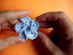 Вязаные цветы Урок 31 Crochet flower pattern かぎ針編みの花のパターン *video on making this flower <3