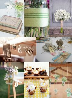 String Wedding Ideas from The Wedding Community? I like the flowers and old pictures