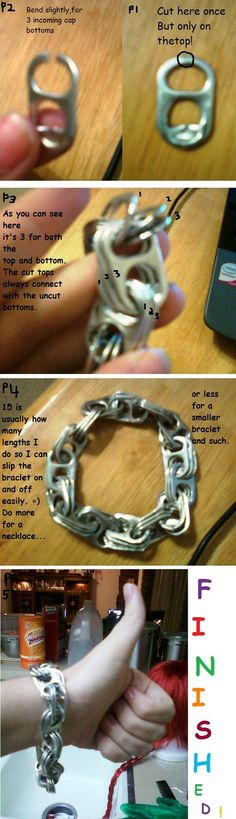 pop tab Bracelet Tutorial by ~Spieling-Peter