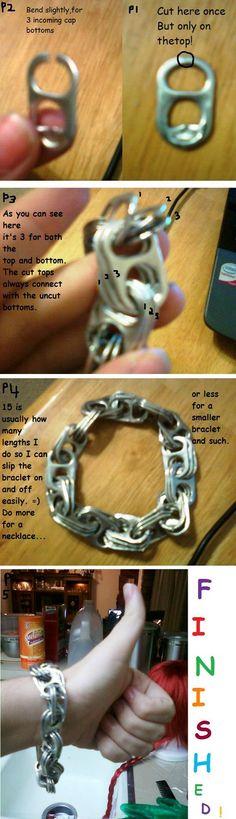 pop tab Bracelet Tutorial by ~Spieling-Peter