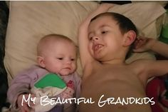 This is my youngest granddaughter and her big brother. She was born 3 months early and at almost 6 months old is now just over 10 pounds. She loves her big brother and he takes such good care of her. He was laying next to her singing to her when we took this picture. #kidsofinstagram #grandchildren #preemie # #babiesofinstagram #babies #PhontoBzz #BiteSizedBzz