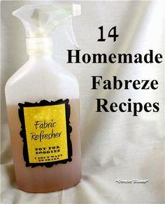 Condo Blues: 14 DIY Fabreze Recipes