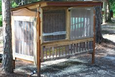 Upcycled Crib to Quail Coop - what an amazing idea!