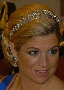 Tiara Mania: Diamond Bandeau worn by Queen Maxima of the Netherlands