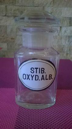 RARE Apothecary Pharmacy Bottle Enameled Label | eBay